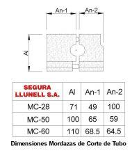 Dimensiones Mordazas para Matriz MC